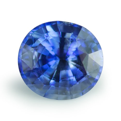 1.43 ct Blue Oval Cut Natural Unheated Sapphire
