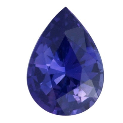 1.03 ct Violet Blue Pear Sapphire Natural Unheated