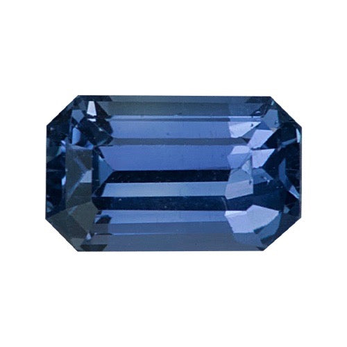 1.11 ct Violetish Blue Emerald Cut Natural Unheated Sapphire