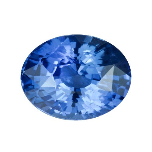 2.57 ct Oval Cornflower Blue Natural Ceylon Sapphire Heated Certified