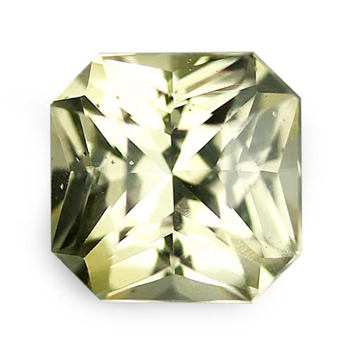 1.00	ct Yellow Radiant Cut Natural Unheated Sapphire