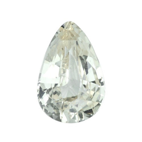 1.52 ct Pear Pastel Yellow Natural Ceylon Sapphire Unheated Certified