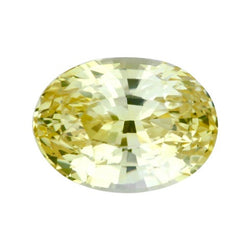 3.01 ct Oval Yellow Ceylon Sapphire Natural Unheated Certified