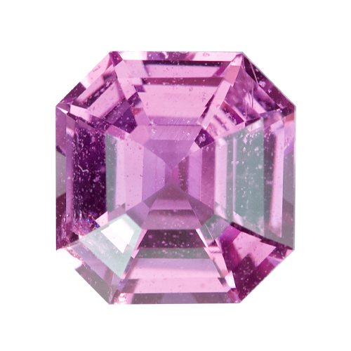 1.10 ct Square Emerald Cut Pink Sapphire Certified Unheated