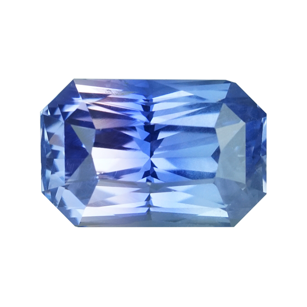 3.69  ct Pink Blue Parti Sapphire Radiant Cut Unheated Ceylon
