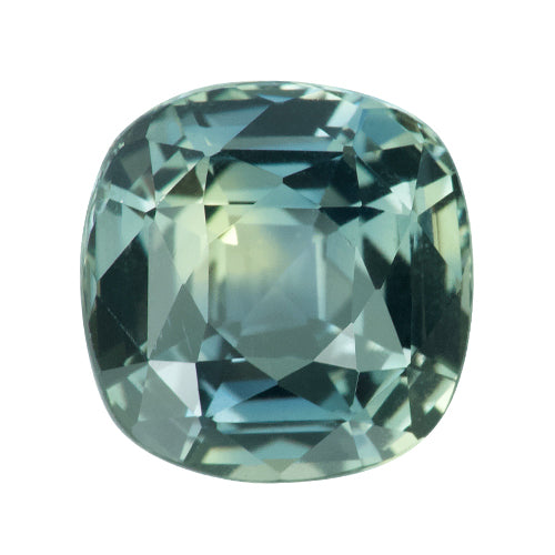 3.19 ct Cushion Mint Green Sapphire Certified Unheated