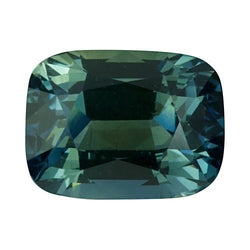 2.24 ct Cushion Blue Green	Sapphire Certified Unheated