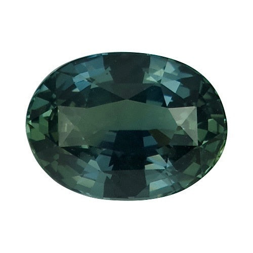 2.53 ct Oval Blue Green	Sapphire Certified Unheated