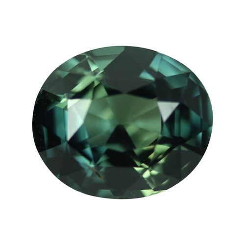 2.31 ct Blue Green Oval Sapphire Certified Unheated