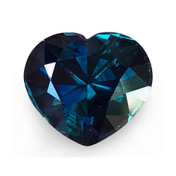 3.20 ct Blue Green Heart Cut Natural Unheated Sapphire