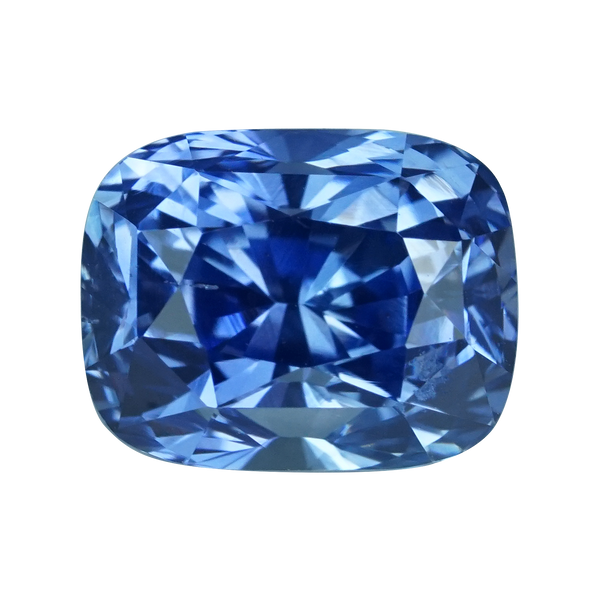 2.01 ct Cornflower Blue Sapphire Cushion Cut Unheated Ceylon