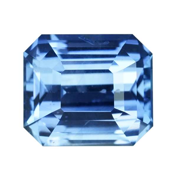 1.63 ct Blue Sapphire Emerald Cut Unheated Ceylon