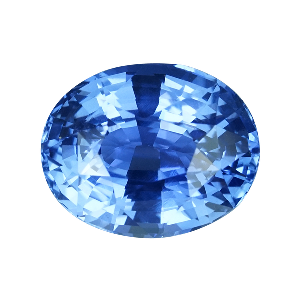 2.37 ct Blue Sapphire Oval Cut Unheated Ceylon