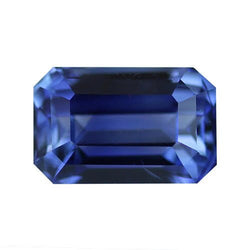 SOLD 1.80 ct Bi-Colour Blue Emerald Cut Natural Unheated Sapphire