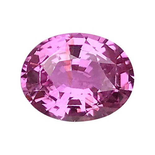 1.61 ct Vivid Pink Oval Cut Natural Unheated Sapphire