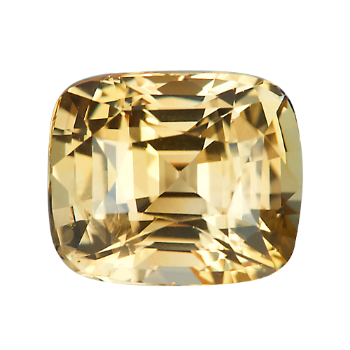 3.06 ct Cushion Peach Apricot Sapphire Natural Unheated