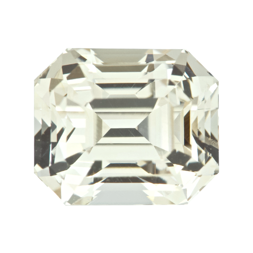 2.18 ct Emerald Cut Champagne Sapphire Natural Unheated