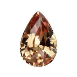 1.23 ct Cognac Copper Pear Sapphire Certified Unheated