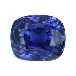 1.03 ct Vivid Deep Blue Near Royal Blue Cushion Cut Natural Unheated Sapphire