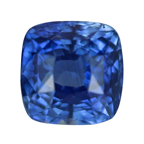 1.61 ct Vivid Cornflower Blue Cushion Cut Natural Unheated Sapphire