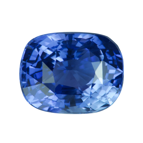 2.55 ct Cushion Cornflower Blue Sapphire Unheated Certified