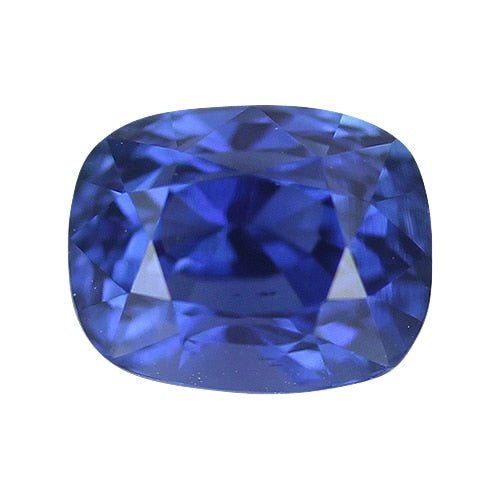 1.09 ct Vivid Deep Blue Near Royal Blue Cushion Cut Natural Unheated Sapphire