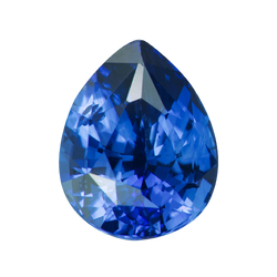 2.49 ct Pear Blue Sapphire Certified Heated