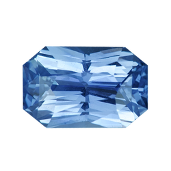 2.50 ct Radiant Cut Blue Sapphire Certified Unheated