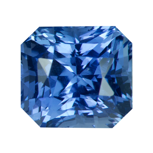 2.09 ct Radiant Cut Blue Sapphire Certified Unheated