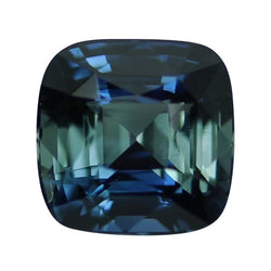 2.34 ct Blue Green Cushion Cut Natural Unheated Sapphire