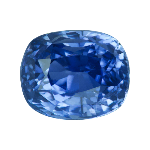2.11 ct Cushion   Blue Sapphire Certified Unheated