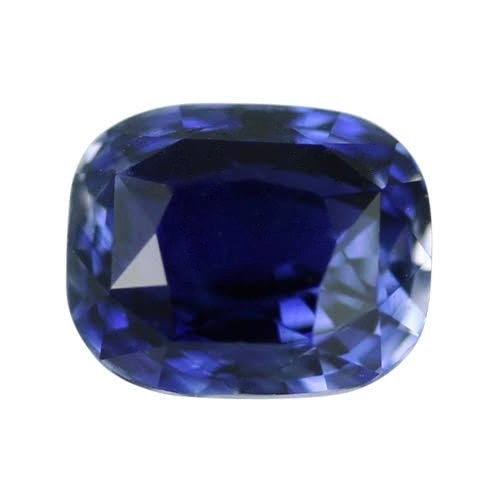 1.19 ct Vivid Blue Cushion Cut Natural Unheated Sapphire