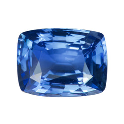 1.72 ct Cushion Vivid Blue Natural Sapphire Certified Unheated