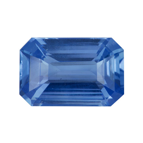 2.56 ct Emerald Cut Blue Sapphire Certified Unheated