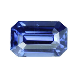 1.61 ct Vivid Blue Emerald Cut Natural Unheated Sapphire
