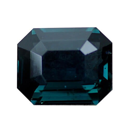 3.30 ct Emerald Cut Blue Green Sapphire Certified Unheated