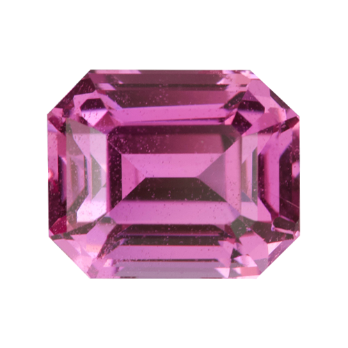 1.60 ct Hot Pink Emerald Cut Sapphire Natural Unheated
