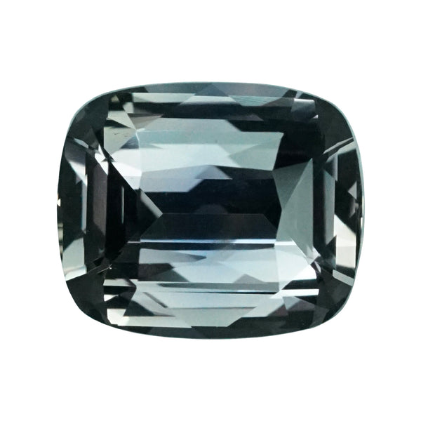 2.51 ct Greenish Grey Cushion Cut Sapphire Unheated Madagascar