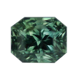 1.67 ct Bluish Green Radiant Cut Natural Unheated Sapphire