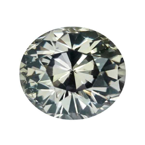 2.50 ct Olive Green Sapphire Oval Cut Unheated Madagascar