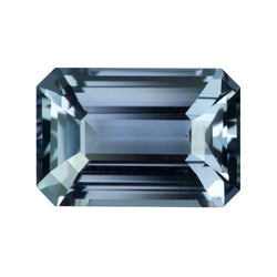 2.59 ct Grey Emerald Cut Natural Sapphire Unheated