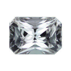 2.15 ct Light Grey Radiant Cut Natural Unheated Sapphire