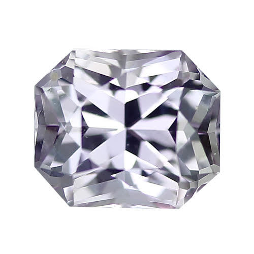 1.53 ct Pinkish Grey Radiant Cut Sapphire Certified Unheated