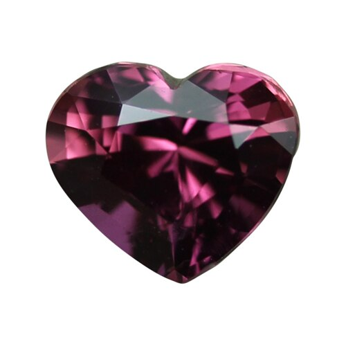 1.09 ct Heart Reddish Orange Sapphire Unheated