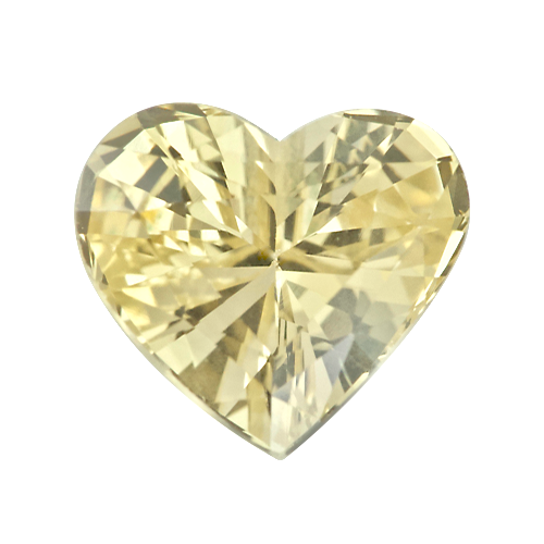 1.27 ct Yellow Heart Shape Sapphire Unheated Sri Lankan