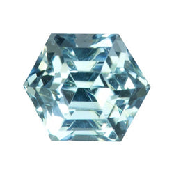 1.69 ct Hexagonal Mint Blue Sapphire Certified Unheated