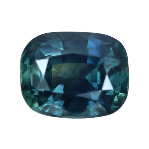 3.07 ct Cushion Blue Green Sapphire Certified Unheated