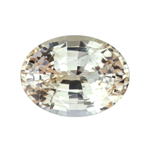 5.46 ct Peachy Yellow Oval Sapphire Natural Unheated