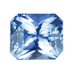 3.58 ct Radiant Cut Blue Sapphire Certified Unheated