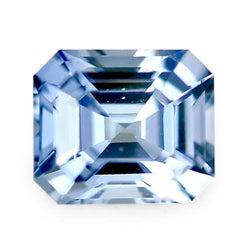 1.25 ct Sky Blue Emerald Cut Natural Unheated Sapphire